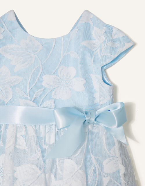 Baby Floral Lace Dress, Blue (BLUE), large