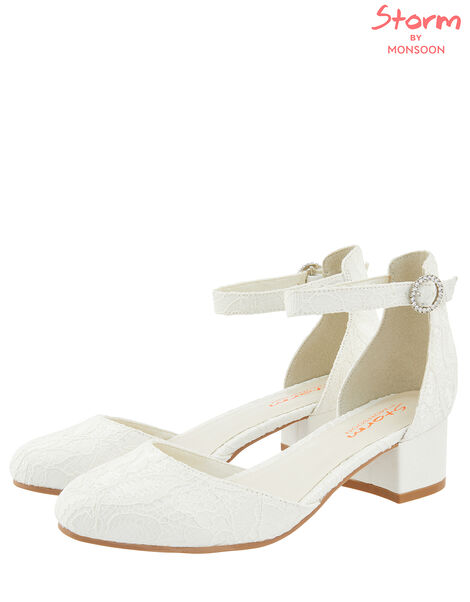 Everleigh Lace Two Part Shoe Ivory, Ivory (IVORY), large