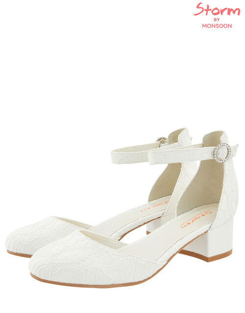 Everleigh Lace Two Part Shoe, Ivory (IVORY), large