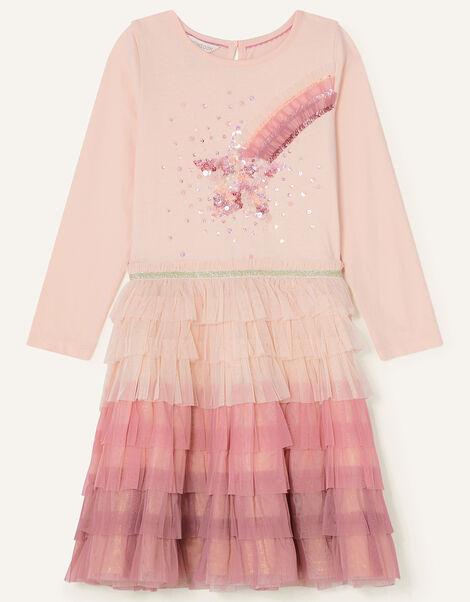 Sequin Star Disco Dress Pink, Pink (PINK), large