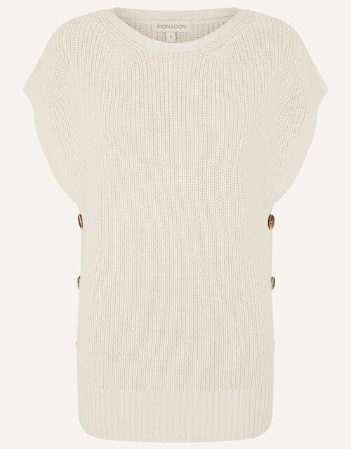 Stitchy Tabard Jumper , Ivory (IVORY), large