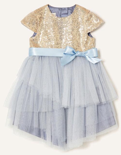 Baby Sequin Safire Dress, Grey (GREY), large