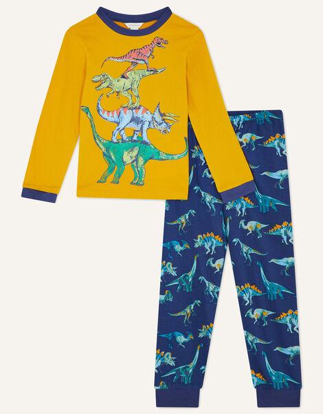 Dinosaur Pyjama Set Blue, Blue (NAVY), large