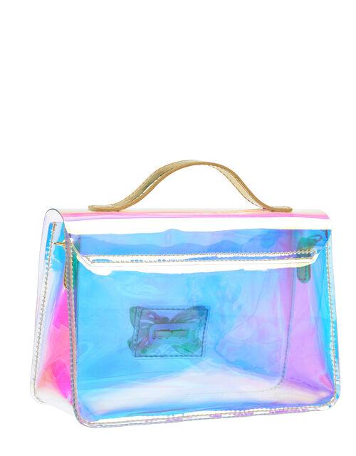 Clear Hologram Effect Shoulder Bag, , large