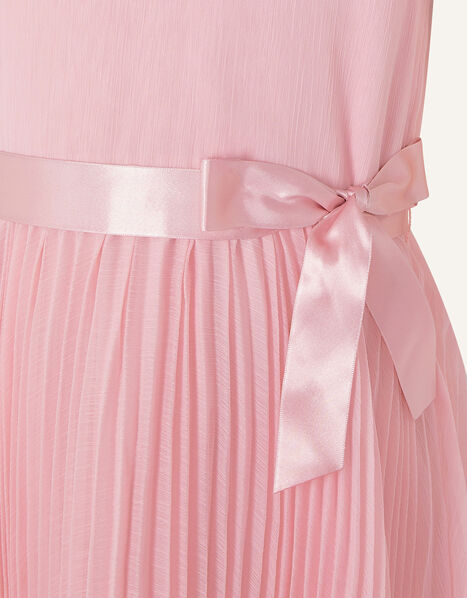 Rubina Pleated Dress Pink, Pink (DUSKY PINK), large