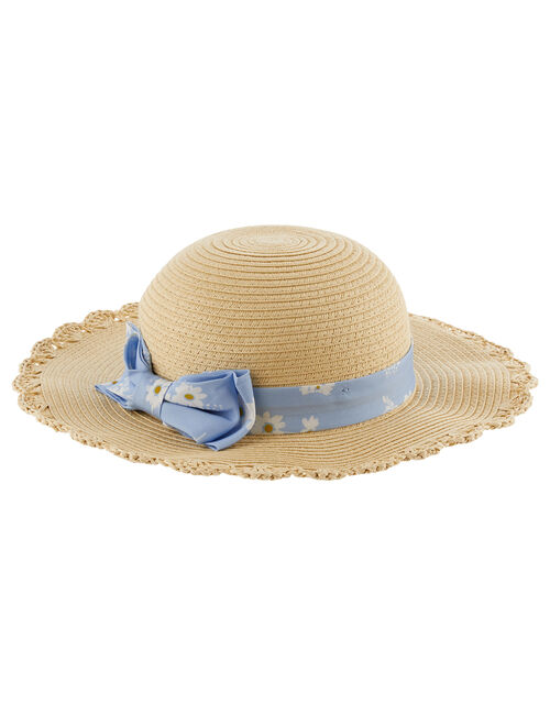 Baby Bella Daisy Floppy Hat , Natural (NATURAL), large