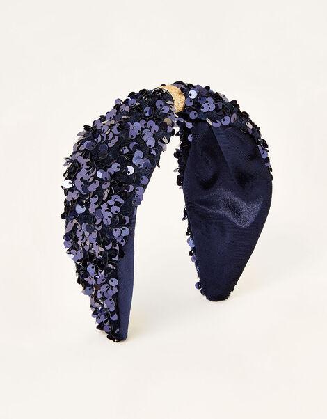 Sequin Knot Headband, , large