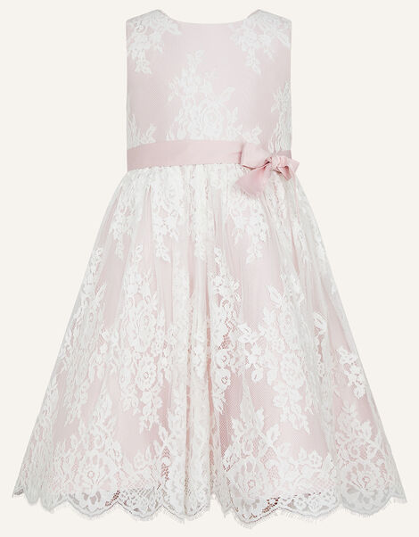 Lace High-Low Dress Pink, Pink (PINK), large