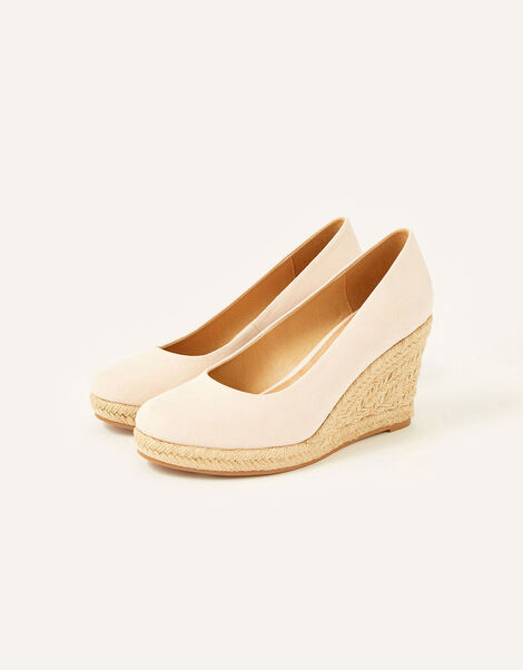 Elena Espadrille Wedges Pink, Pink (BLUSH), large