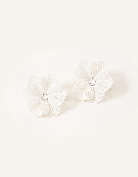 Glitter Snowflake Hairclips, , large