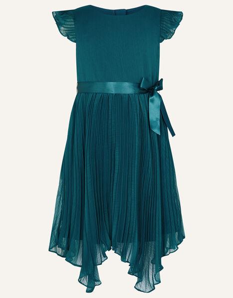 Rubina Pleated Dress Teal, Teal (TEAL), large