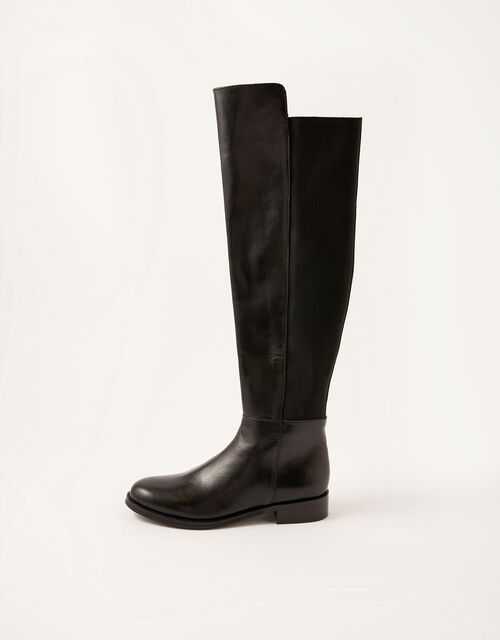 Olivia Leather Over-the-Knee Boots, Black (BLACK), large