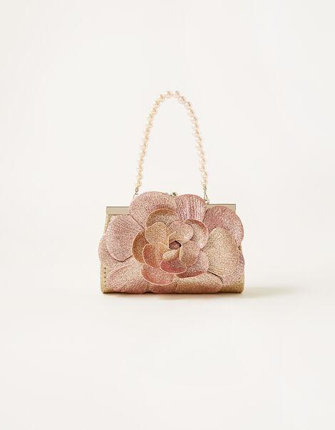 Ombre Glitter Flower Mini Bag, , large