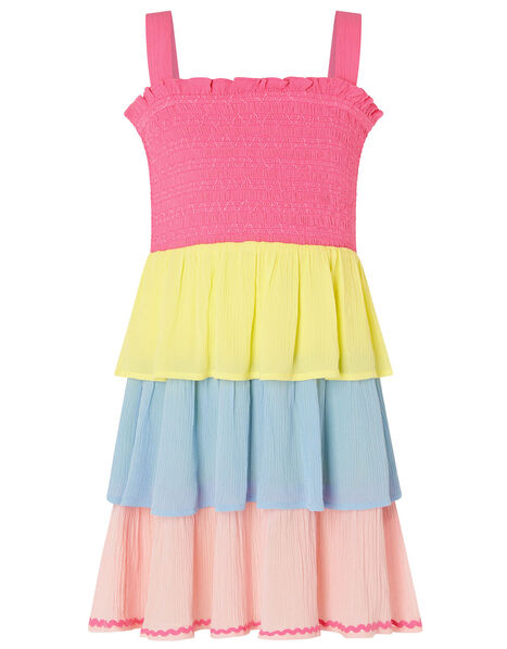 Colour-Block Dress in LENZING™ ECOVERO™ Pink, Pink (PINK), large