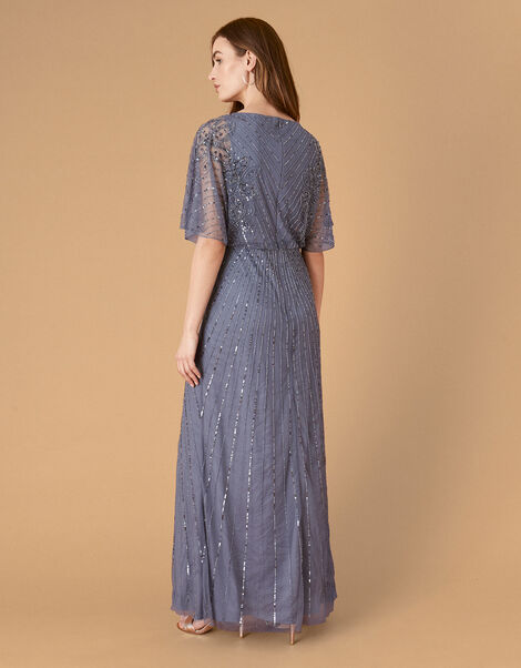 ARTISAN Holly Floral Maxi Dress Blue, Blue (DARK BLUE), large