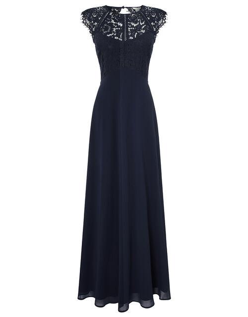 Morgane Lace Maxi Bridesmaid Dress, Navy, large