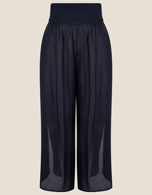 Split Side Jersey Trousers, Blue (NAVY), large