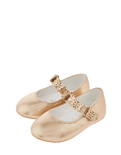 Baby Savannah Butterfly Walker Shoes, Gold (GOLD), large