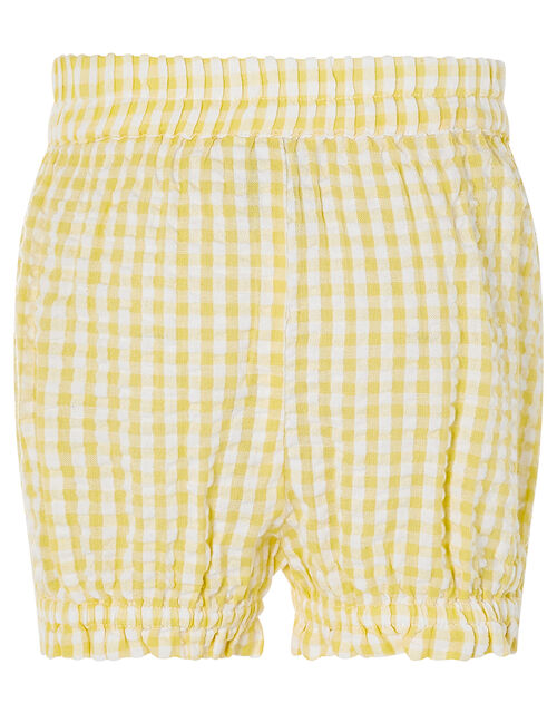 Baby Broderie Top and Gingham Shorts Set, Yellow (YELLOW), large