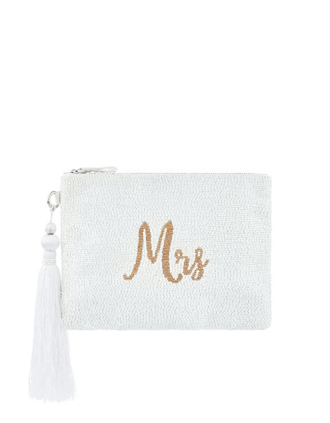 Marnie Mrs Embellished Bridal Pouch, , large