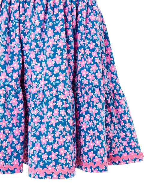 Geo Flower Jersey Dress with Organic Cotton, Pink (PINK), large