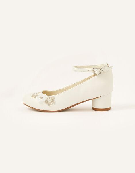 Dazzle Flower Heels Ivory, Ivory (IVORY), large