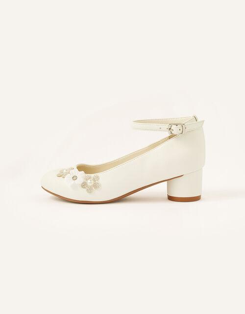 Dazzle Flower Heels, Ivory (IVORY), large