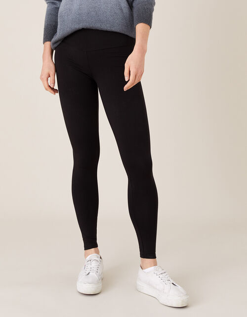Penelope Jersey Leggings, Black (BLACK), large