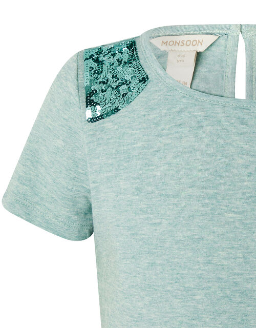 Sequin Shoulder Top, Green (MINT), large