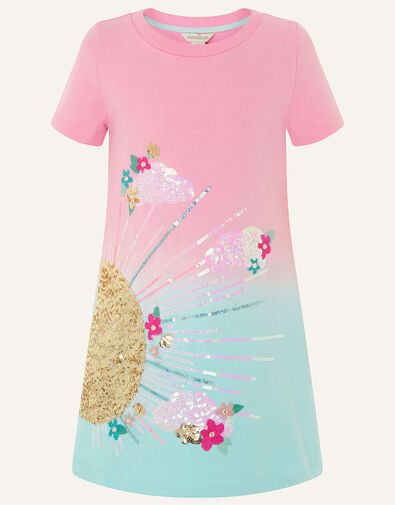 Sunshine Ombre Sweat Dress  Pink, Pink (PINK), large