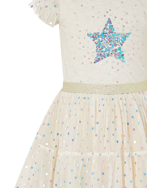 Foil Star Disco Dress, Pink (PINK), large