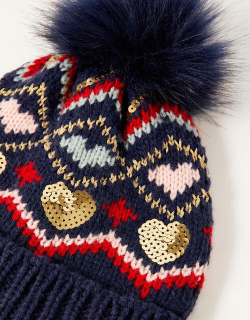 Cherry Sequin Chenille Hat, Multi (MULTI), large