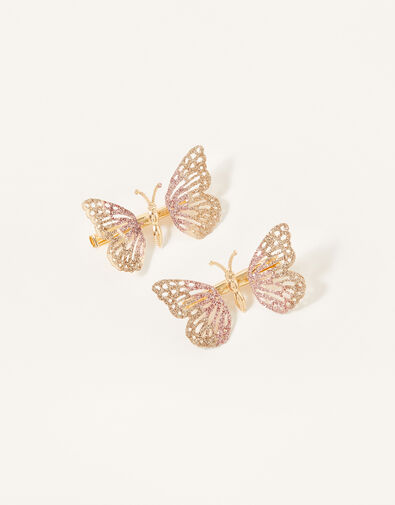 Ombre Glitter Butterfly Clips, , large