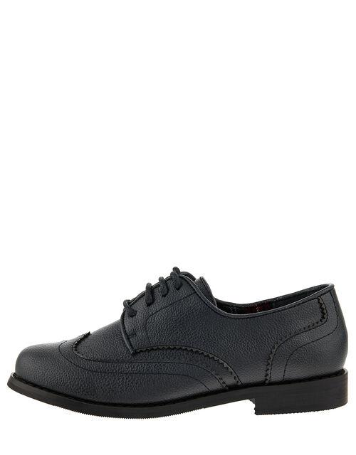 Boys' Oxford Brogue Shoes, Black (BLACK), large