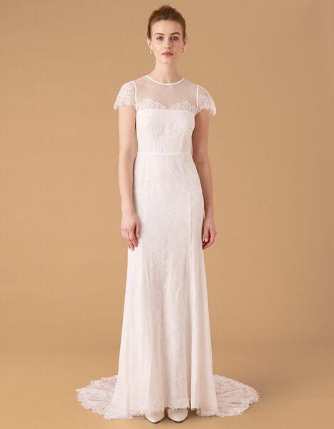 Rebecca Chantilly Lace Bridal Dress Ivory, Ivory (IVORY), large
