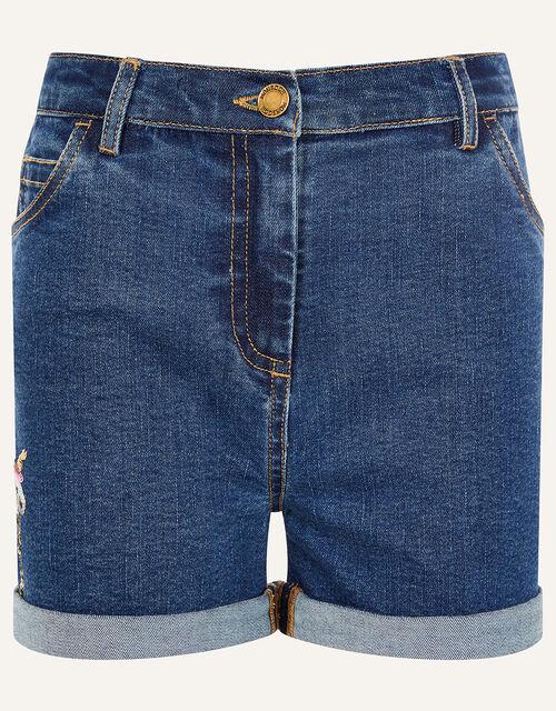 Unicorn Denim Shorts , Blue (BLUE), large