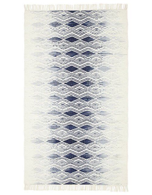 Small Geometric Fade Wool Rug, Ivory (IVORY), large