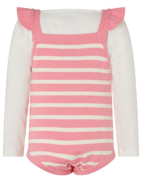 Newborn Baby Swan Knit Romper Set, Pink (PINK), large