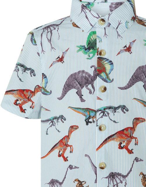 Mason Dinosaur Short-Sleeve Shirt, Blue (BLUE), large