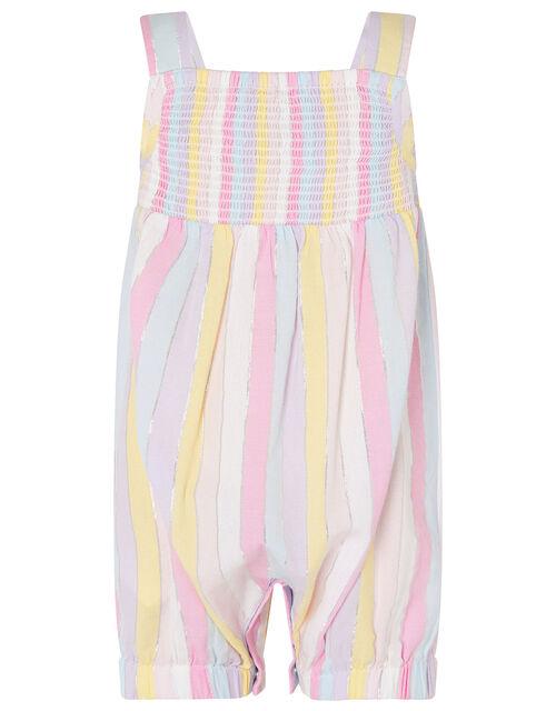 Baby Rainbow Stripe Jumpsuit, Multi (MULTI), large
