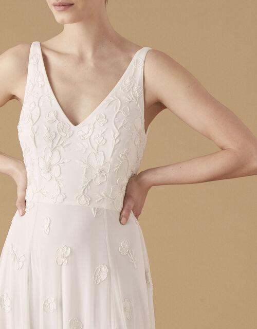 Kate Beaded Floral Bridal Dress, Ivory (IVORY), large