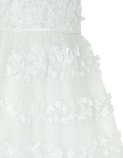 Pretty Petal High-Low Occasion Dress, Ivory (IVORY), large