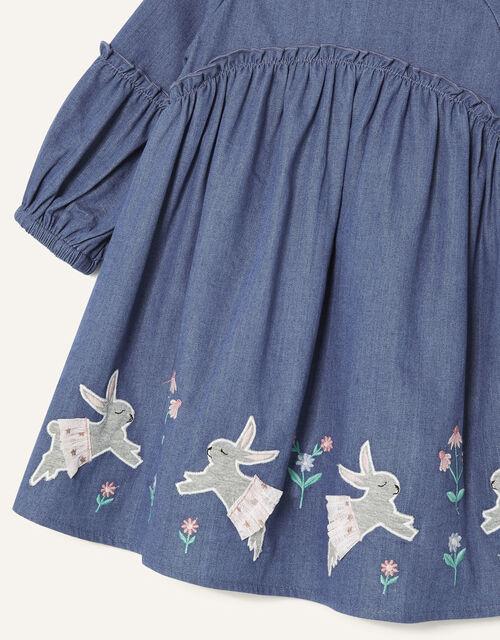Baby Bunny Denim Dress, Blue (BLUE), large