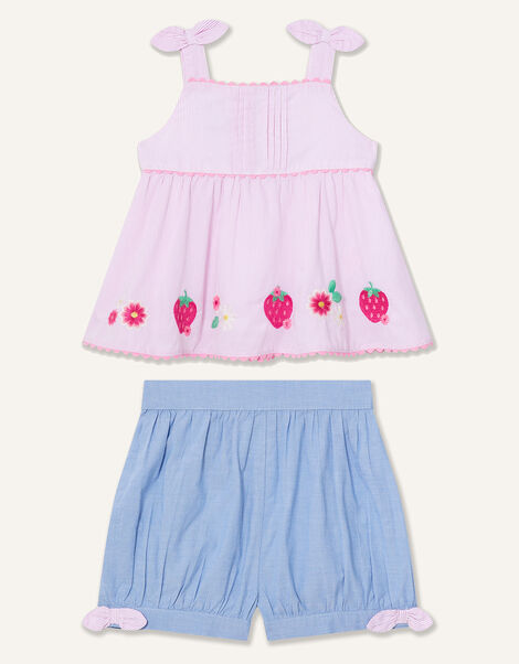 Baby Strawberry Top and Shorts Set Pink, Pink (PINK), large