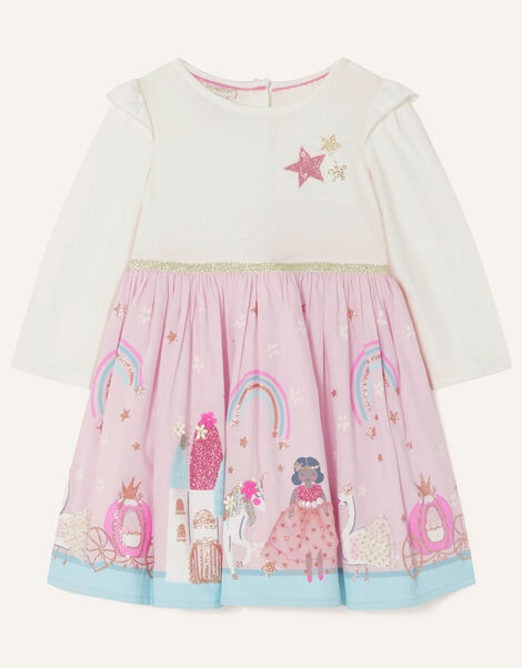 Baby 2-in-1 Princess Scene Dress Pink, Pink (PINK), large