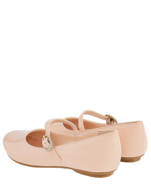 Brielle Patent Ballerina Shoes, Pink (PINK), large