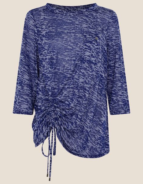 LOUNGE Beatrice Burnout Jersey Top Blue, Blue (BLUE), large