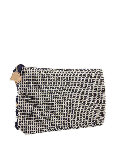 Cotton Weave Cross-Body Bag, , large