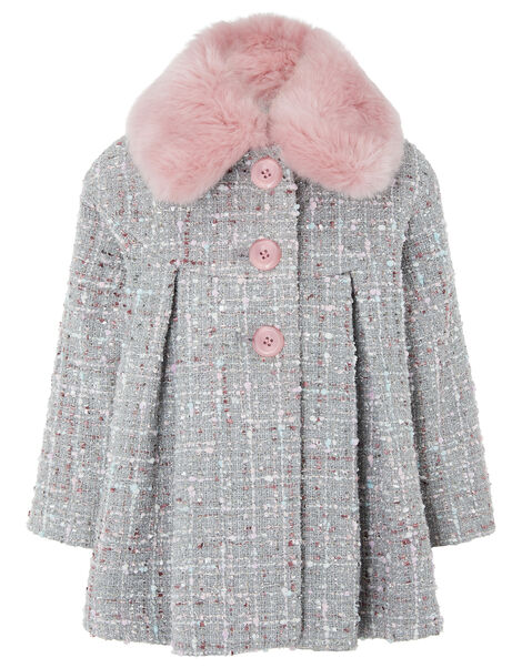 Baby Sparkle Tweed Coat Grey, Grey (GREY), large