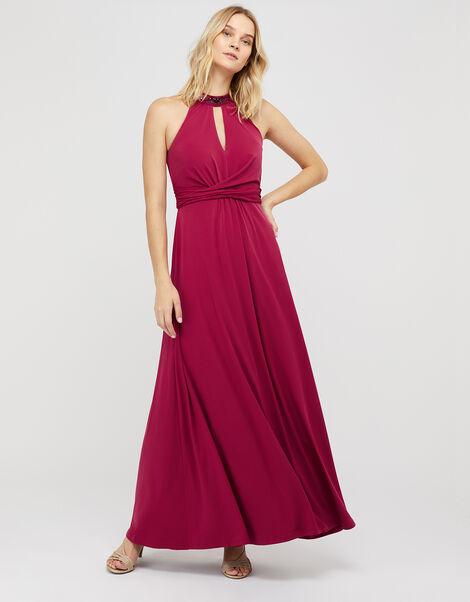 Izzie Embellished Jersey Maxi Dress Pink, Pink (PINK), large